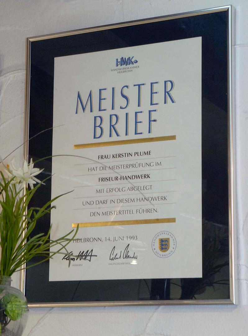 Kerstin Plume, Meisterin im Friseurhandwerk in Ilsfeld